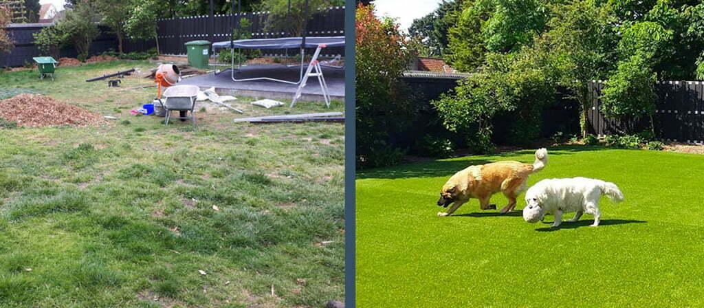 Grote honden tuin Koksijde