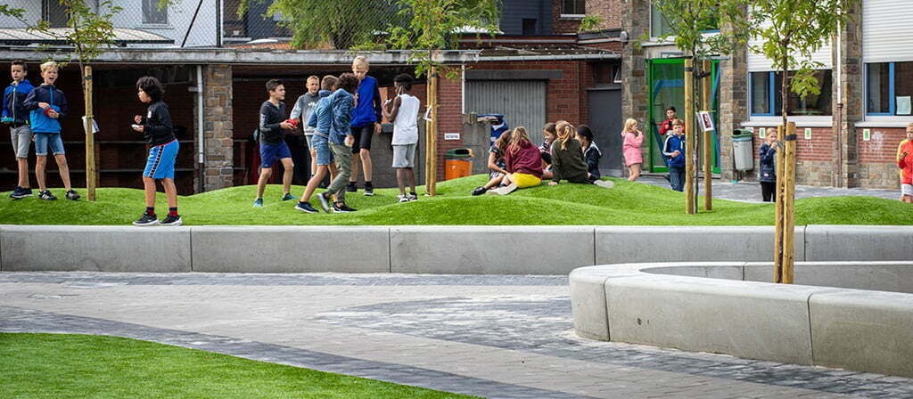 Kunstgras schoolplein
