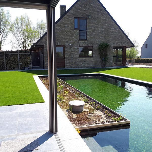 Moderne tuin kunstgras