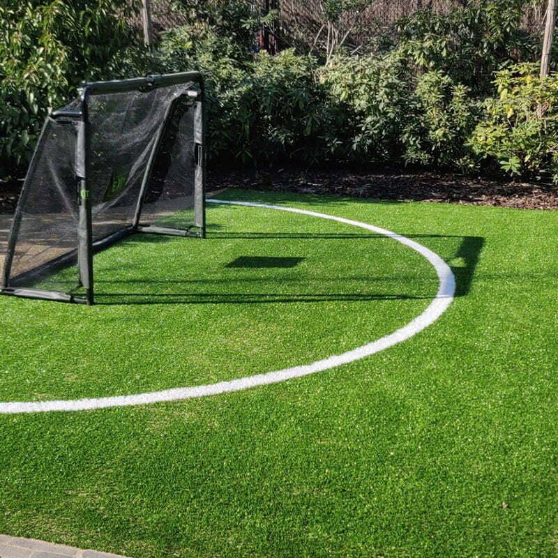 Sportveldje in tuin