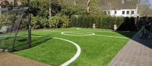sportveldje in de tuin